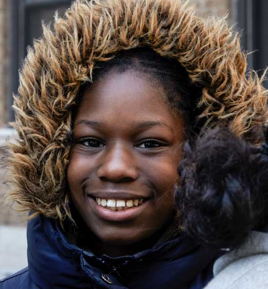 Smiling GIrl with Parka